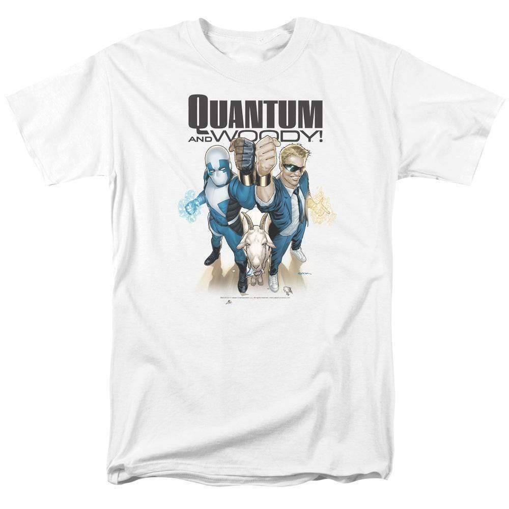 Quantum and Woody T Shirt Valiant Comics 1990s comic book graphic tee VAL182