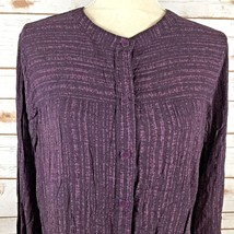 Eddie Bauer Womens Blouse Shirt Purple Size Large B4 - $19.83