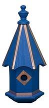 Bluebird Birdhouse - Bright Blue With Copper Trim & Accents Amish Handmade Usa - $137.19
