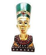 """Ebros Golden Ancient Egyptian Queen Nefertiti Bust Statue 9.75""""Tall Wife... - $26.68"""