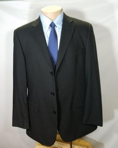 EMANUEL UNGARO MEN'S BLACK SPORT COAT 100% WOOL SIZE 42R RN 107951