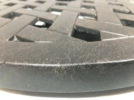 "Lazy Susan turntable 30"" rotates 360 degrees patio cast aluminum Nassau Bronze image 2"
