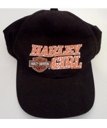 Harley Davidson Ladies Harley Girl Orange Embroidered Motor Cycle Baseba... - $12.19