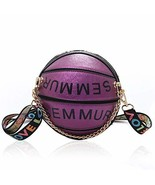 Girls Basketball Shape Chain Shoulder Handbags, Circle Crossbody Bag,Wom... - $21.01