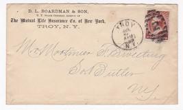 D.L. BOARDMAN & SON MUTUAL LIFE INSURANCE TROY, NY 1888 - $2.68