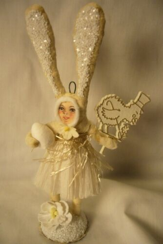 Vintage Inspired Spun Cotton, Clothed Bunny no. 162