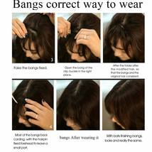 100% Natural Thin Bangs Fringe Clip in Hair Extensions Front Bangs image 12