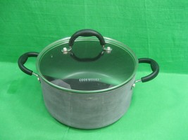 Vintage Dutch Oven by Cook Works Non-Stick with Glass Lid - $20.53
