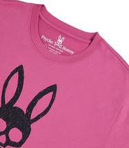 Men's Psycho Bunny Short Sleeve Jasper Graphic Tee Logo Print Magenta T-Shirt image 4