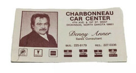 Vtg Charbonneau Car Center Business Card Denny Anner Dickinson North Dak... - $19.79