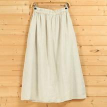Cotton Linen Wrap Skirts Women A Line Long Casual Skirt, Khaki Army Green Black image 7