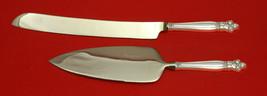 Silver Poppy by Lunt Sterling Silver Wedding Cake Set Server 2pc Custom ... - $149.00