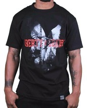 Dissizit Mens Black Liberty or Death Patrick Henry LA Slick T-Shirt USA made NWT