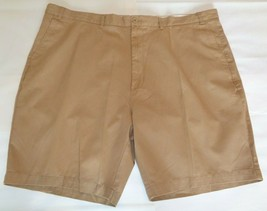 Casuals Roundtree & Yorke Size 50 Waist RELAXED FIT Brown Cotton New Men... - $39.96