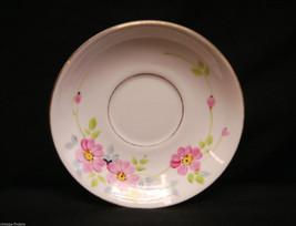 """Old Vintage Woodlands Bone China 5"""" Saucer Pink Flower Design Pattern En... - $8.90"""