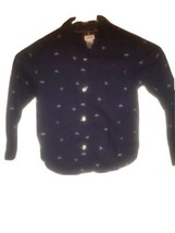Boys Carter's Button Down Long Sleeve Shirt Size 4T Blue - $6.93
