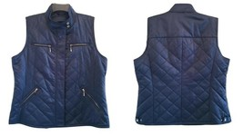 Pendleton Woman's Blue Quilted Zip & Snap Vest New XL - $62.00