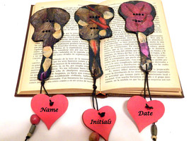 Set 3, Personalized Bookmarks Gift, Wedding Bookmarks, Book Mark, Paper ... - $28.00
