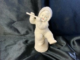 Department 56 Snowbabies Angel Wings I'll Play A Christmas Tune Figurine - $15.00