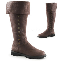 "FUNTASMA Gotham-120 Series 1 1/2"" Flat Heel Knee-High Boots - Brown Dist... - $61.95"