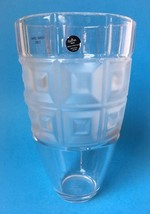 "Rosenthal Classic Lead Crystal Vase Domus Frosted Squares Germany 9.5"" - $49.95"