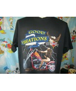 Vintage 90's Rebel Rider Good Vibrations Biker T Shirt XL  - $74.24