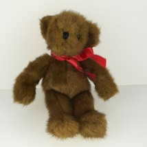"Ganz Cocoa Plush Bear 12"" Vintage 1995 Brown Stuffed Animal Toy with Red... - $16.83"