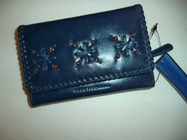 Kenneth Cole Reaction Beaded Clutch Wallet,Navy-See Description for Pictures - $29.69