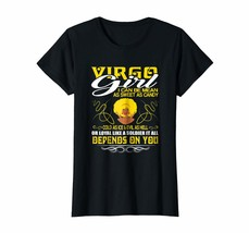Funny Happy birthday T-Shirt - Virgo Girl I Can Be Mean It All Depends O... - $19.95+
