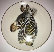 "Handsome Zebra Collector Plate Born Free ENESCO 1975 8.25"" Diameter - $23.51"