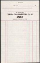 Vintage Receipt Iola COCA-COLA Bottling Co Kansas Unused New Old Stock n-mint+ - $7.99