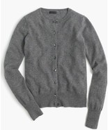 J.CREW ITALIAN CASHMERE CARDIGAN SWEATER SIZE S HEATHER FLANNEL F5918 - £90.06 GBP