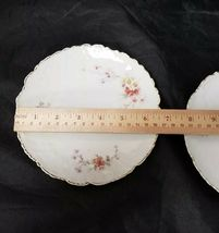 Vintage China Salad Plates: Set of 2, White Bread / Side Plates w Flowers, Gold image 6