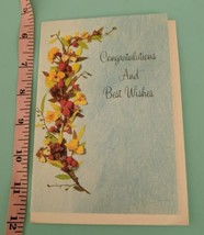 American Greetings Congratulations & Best Wishes Unused Vintage 1970's F... - $5.00