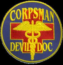 USMC CORPSMAN DEVIL DOC PATCH & STICKER NEW!!! - $19.79