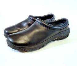 Merrell Encore Nova Women Size 10 Black Leather Mule Clogs Ortholite Moc... - $34.15