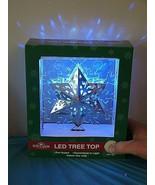 BRAND NEW KURT ADLER SIL/BLU PROJECTION LED WHITE LIGHTS CHRISTMAS Tree ... - $39.59