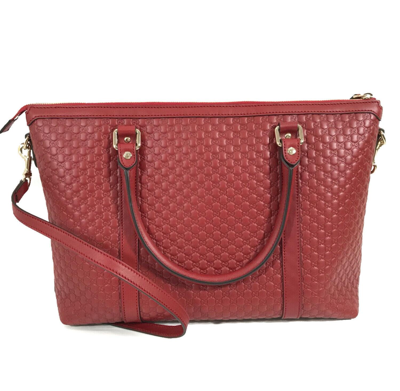 NEW GUCCI Microguccissima Leather Zip Top Crossbody Handbag image 3