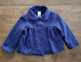 Gymboree Toddler Girls Coat Jacket Size 2T - 3T Navy Blue Double Breasted Cotton - $11.99