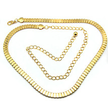 Gold Flat Ladies Waist Chain Charm Belt in gold Adjusatble So One Size F... - $12.59