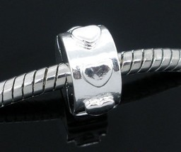 One Stopper Clip Lock Silver plated Charm Bead Fit European Charm Bracelet C30 - $2.96