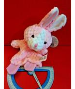 Pink Bunny Hand Puppet Goffa Pastel Handpuppet Pretend Play Soft Plush T... - $4.74