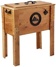 BACKYARD EXPRESSIONS PATIO · HOME · GARDEN 905469 45 Quart Rustic Wooden... - $85.29
