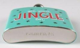 Get Your Jingle On Metal Pocket Hip Flask 5oz Christmas Alcohol Whisky Vodka NEW image 3