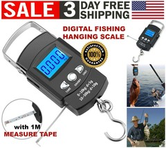 Digital Fishing Hook Travel Luggage Fish Scale Weight with Measuring Tap... - $11.38