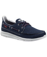 NEW Columbia Men's DELRAY PFG SHOES, NAVY/CARBON, SUNSET RED - $53.91