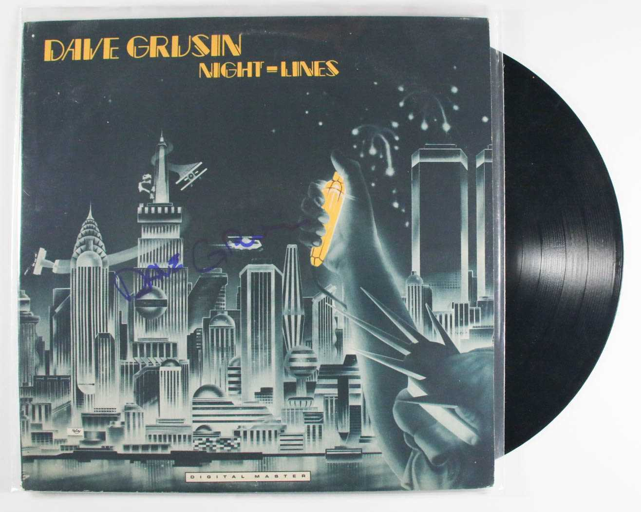 "Primary image for Dave Grusin Signed Autographed ""Night Lines"" Record Album"