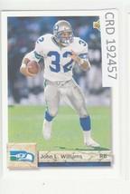1992 Upper Deck John L. Williams RB Seattle Seahawks  #178  192457 - $1.86