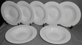 Set (7) Apropos MILLENNIA PATTERN White Porcelain RIM SOUP BOWLS - $63.35