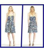 RACHEL by Rachel Roy Blue//White Printed Spaghetti Straps Dress Size - L... - $59.95